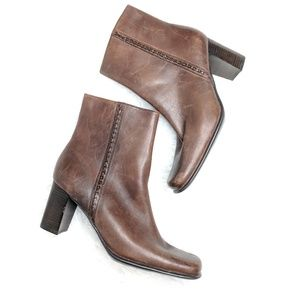 St. John's Bay Brown Heeled Ankle Booties Size 7.5